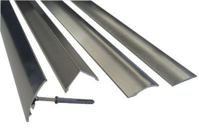 Alu/Stainless Cover Strip Self Adhesive 2.44 Mtr