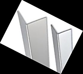 Bright Silver Corner Guards 2.5mtr